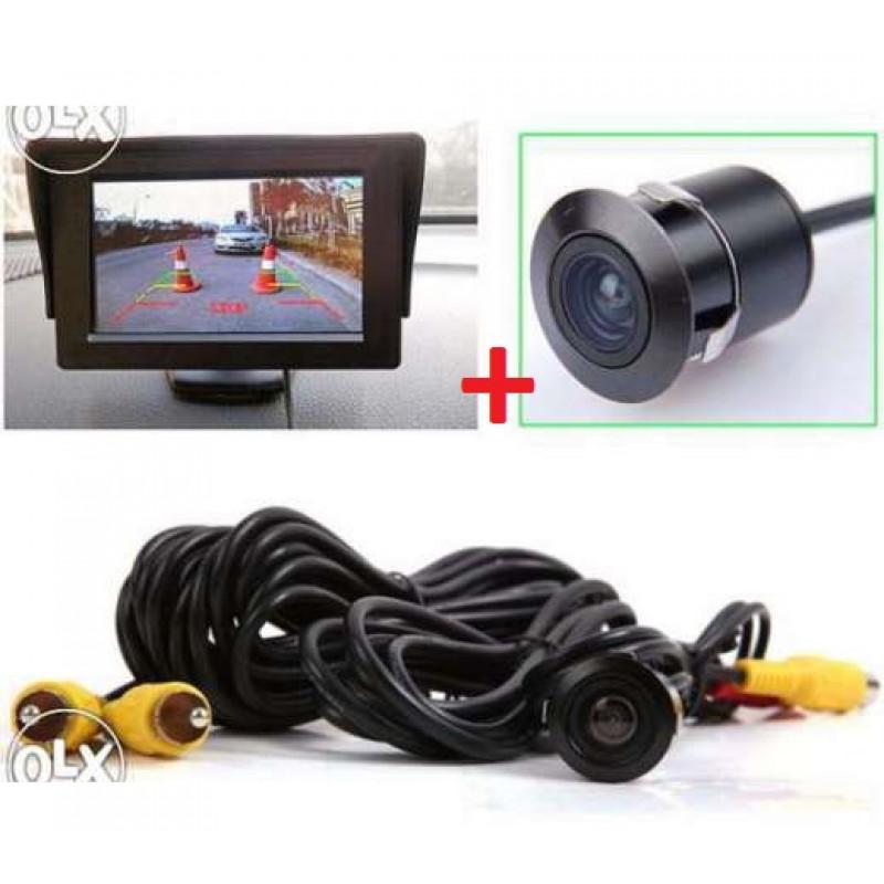 Монитор 4,3'' + Cmos Камера с Ir Led за Заден Ход и Оглед