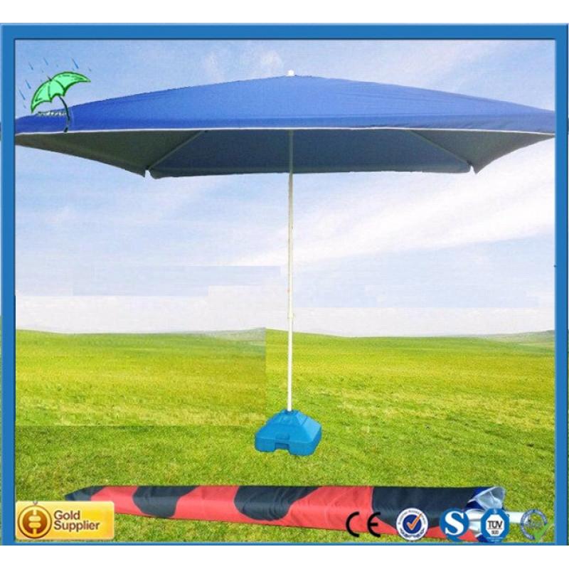 Градински чадър квадратен син