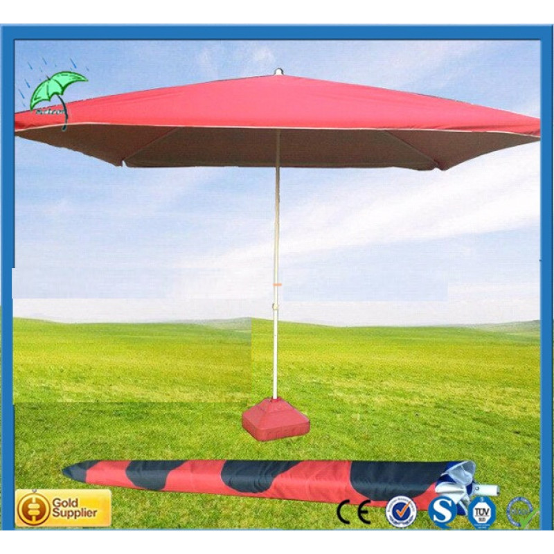 Градински чадър квадратен  ЧЕРВЕН