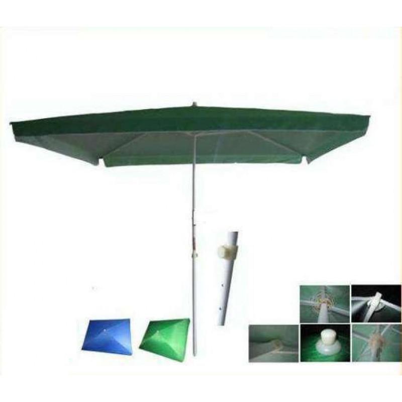 Градински чадър квадратен ЗЕЛЕН