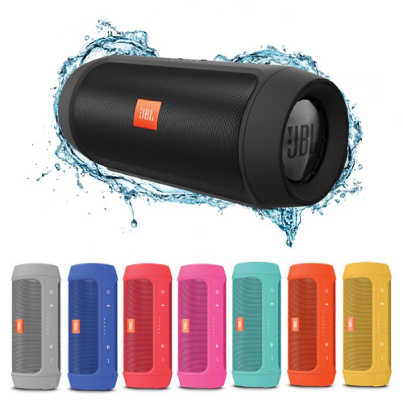 Колонка JBL Charge 2+ - влагоустойчив безжичен спийкър с микрофон и вградена батерия, зареждащ мобилни устройства