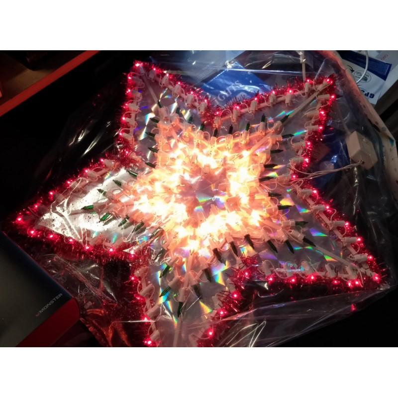 Светеща Коледна Звезда, Украса за Коледа, Разноцветни Лампички