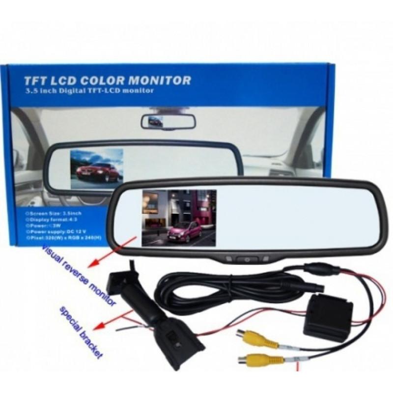 Парктроник система- Lcd дисплей в огледало за задно виждане + камера за задно виждане