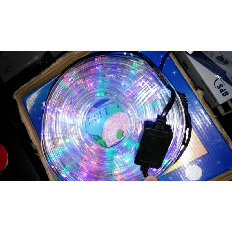 Светещ маркуч 10m цветен Rgb