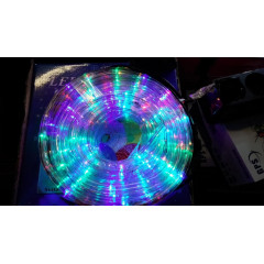 Светещ маркуч 10m цветен Rgb без контролер.