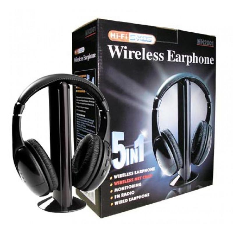 Hi-Fi, 5 в 1 безжични слушалки с микрофон